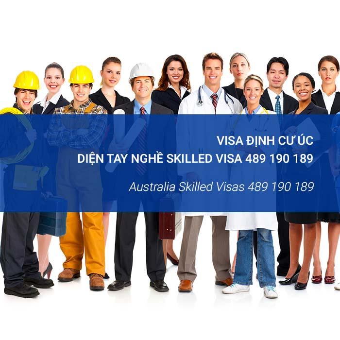 Định cư tay nghề Úc skill visa 489 190 189