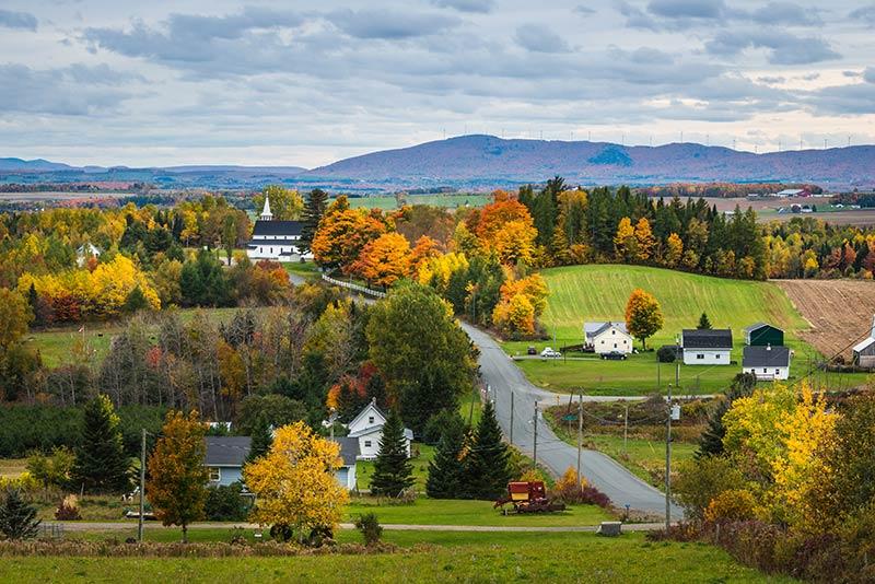 Cảnh mùa thu   New Brunswick   Định cư Canada (Doslink Migration)
