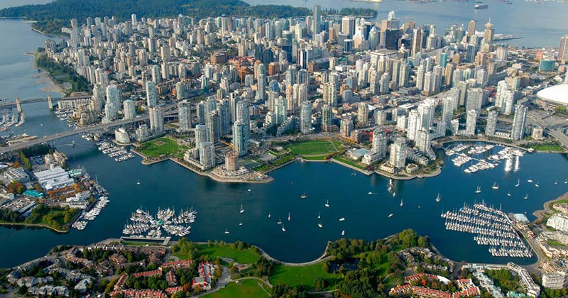 Vancouver (birdview) đầu tư British Columbia định cư Canada