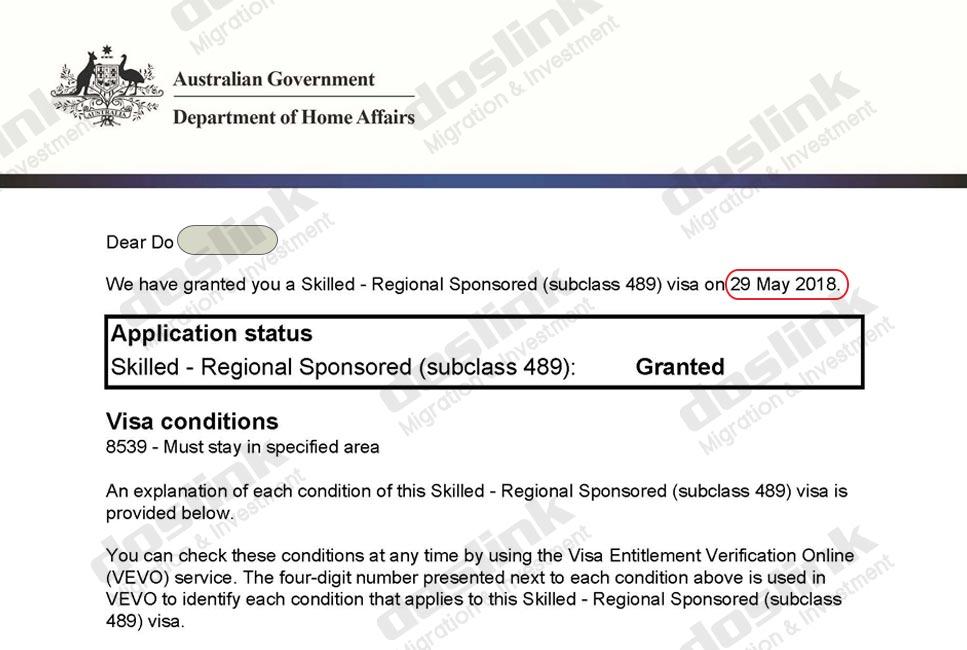 , Visa 489 – Định cư Úc diện Tay Nghề (Skill) | Mr Đỗ – Graphic Designer, Doslink Migration & Investment
