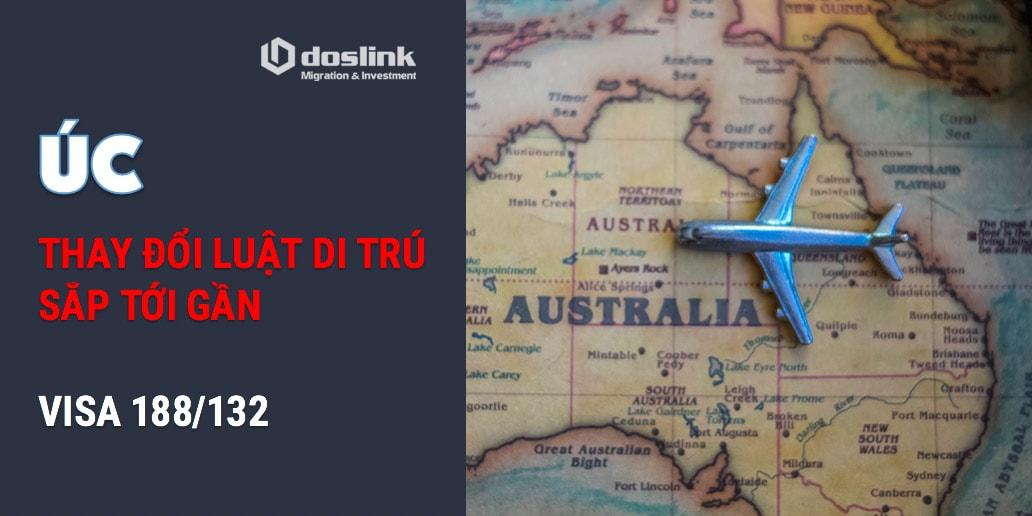 thay đổi luật di trú Úc visa 188 132