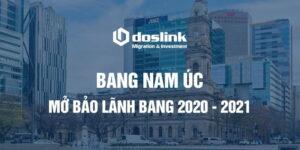 Bang Nam Úc mở bảo lãnh bang năm 2020 - 2021