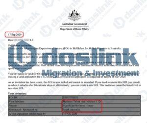 Bảo lãnh Bang visa 132A - Nam Úc (Adelaide), Mr Le 09.2020(doslink.com.vn)