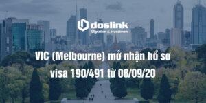 VIC (Melbourne) mở nhận hồ sơ visa 190/491 từ 08/09/20