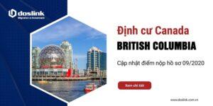 Điểm nhận hồ sơ đầu tư định cư British Columbia (BC – Vancouver) - Tháng 9/2020