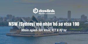 NSW (Sydney) mở nhận hồ sơ visa 190
