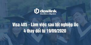 VISA 485 – 4 THAY ĐỔI TỪ 19/09/2020 | VISA LÀM VIỆC SAU TỐT NGHIỆP ÚC