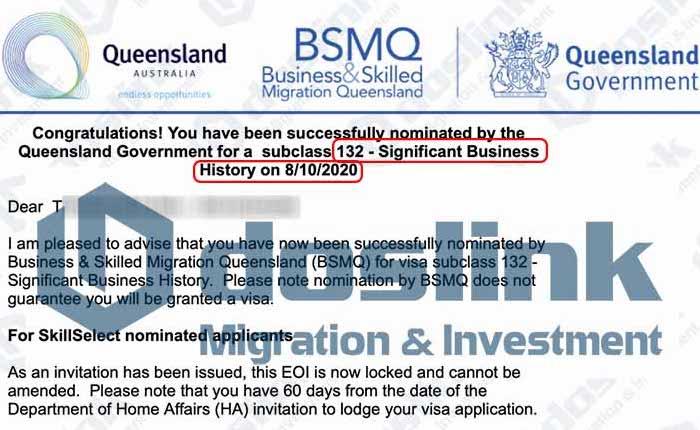 Bảo lãnh Bang Queensland – Visa 132A Doanh Nhân Tài Năng, KH T … 08/10/2020