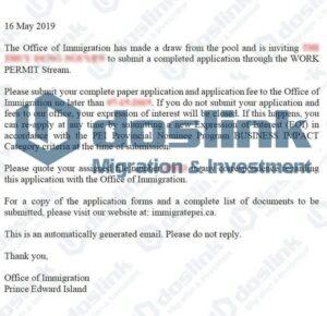 ITA (Invitation to Apply) của Tỉnh Bang Đảo Hoàng Tử, KH Thuy Dung tháng 05/2020