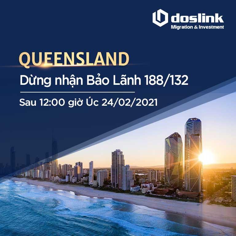 Queensland dừng nhận bảo lãnh visa 188/132 đến hết ngày 24/02/2021