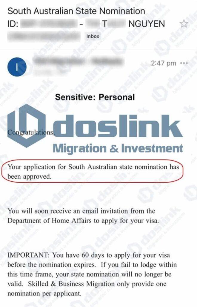 Bảo Lãnh Bang Nam Úc Visa 132A ngày 25/03/2021