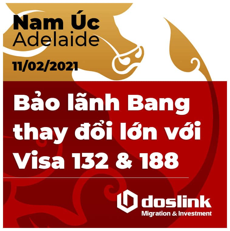 Nam Úc xét cấp bảo lãnh Bang cho ứng đơn visa 188/132 từ ngày 15/02/2021