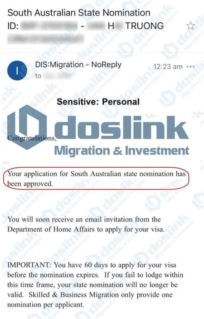 Bảo Lãnh Bang Nam Úc Visa 132A ngày 08.04.2021