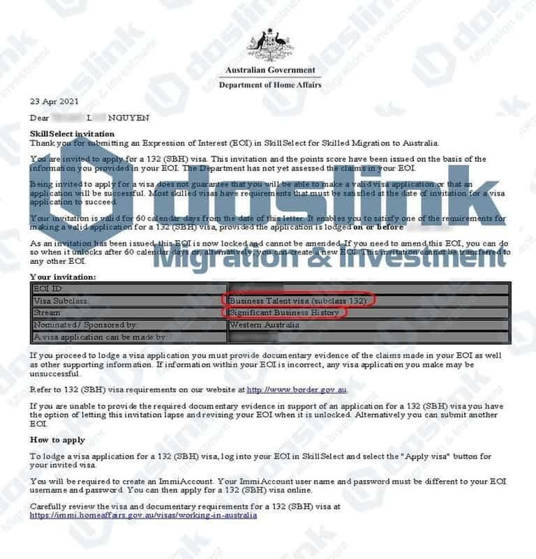 Bảo Lãnh Bang Tây Úc - Perth Visa 132A
