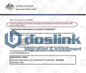 Kết quả visa định cư Úc 188A tỉnh bang Tasmania 06.04.2021