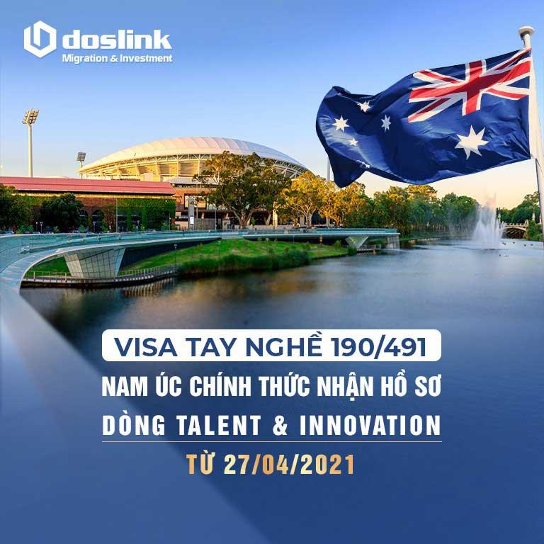 Nam Úc chính thức nhận hồ sơ bảo lãnh visa 190/491 cho dòng Talent & Innovation từ 27/04/2021