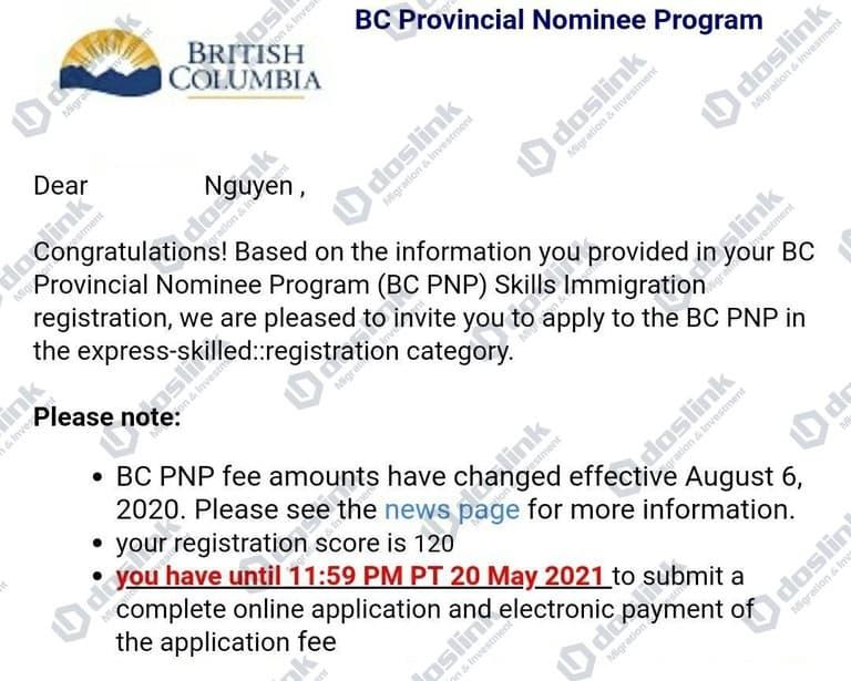 Thư mời nộp hồ sơ ITA B.C Tech Pilot