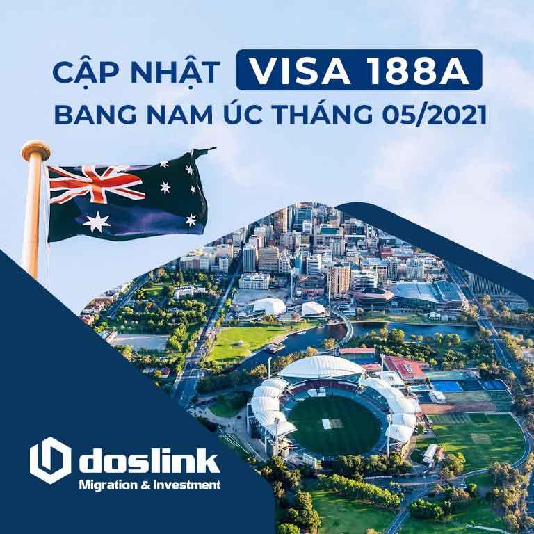 Cập nhật visa 188A bang Nam Úc ngày 21/05/2021