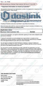 Kết quả visa 132a Nam Úc ngày 10/06/2021