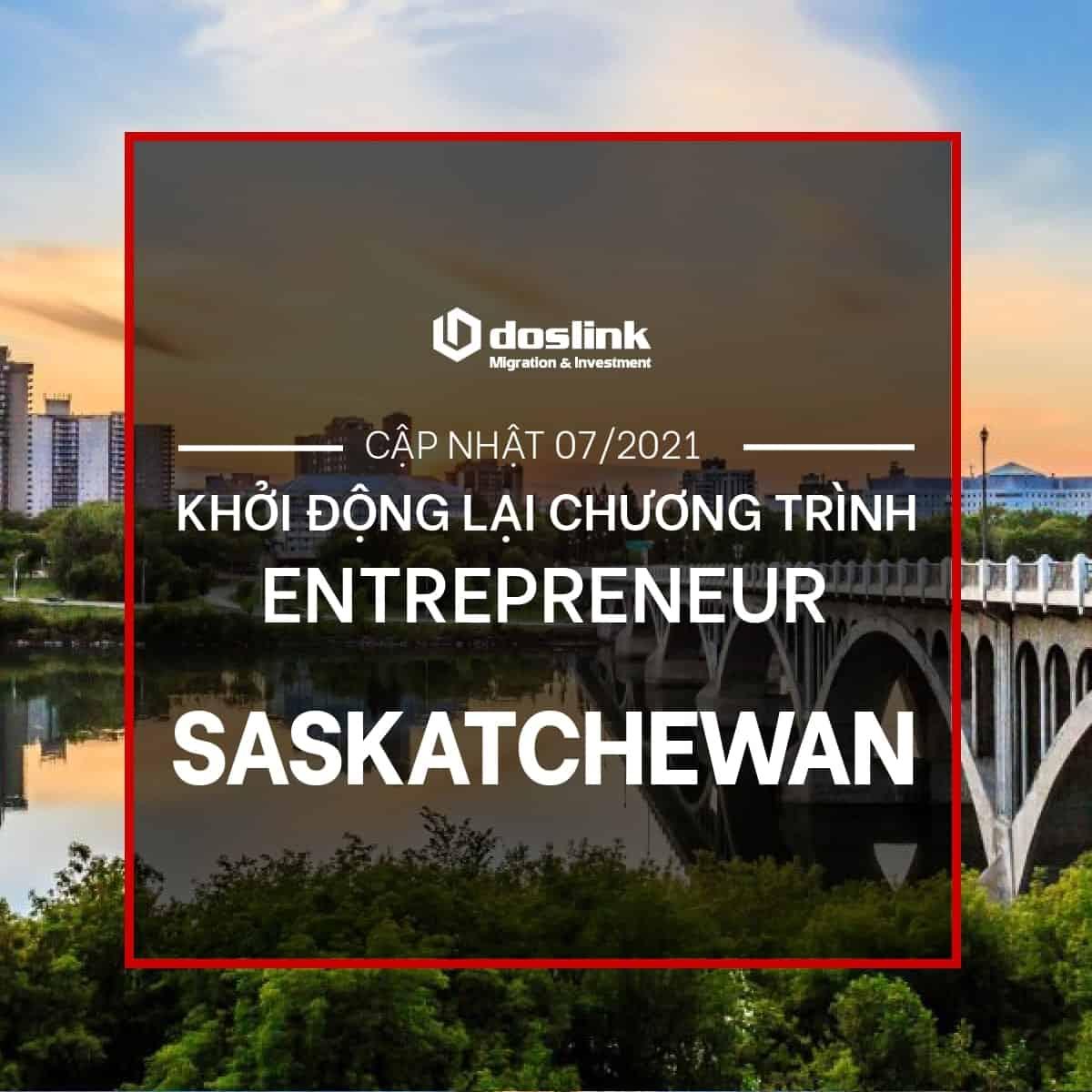 Saskatchewan Khởi Động Lại Chương Trình Entrepreneur